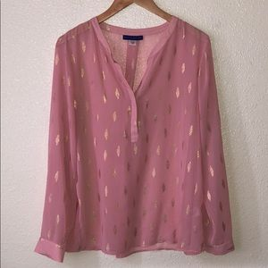 NWOT Simply Styled By Sears transparent Pink Top